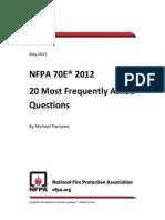 NFPA 70E- 20 Most Common FAQs