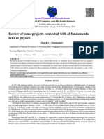 Review of some projects connected with of fundamental laws of physics