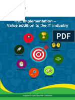 ITIL Implementation – Value addition to the IT industry