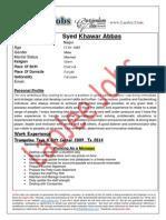 Syed Khawar Abbas - Sales-Marketing-Banking