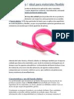 Barniz elástico | ideal para materiales flexibles