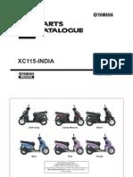 YAMAHA XC115-INDIA CATALOGUE