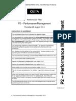 P2 September 2014 Paper