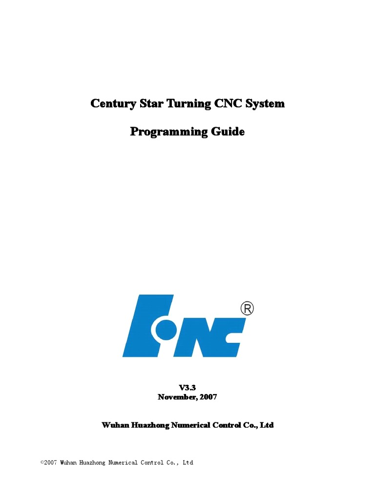 Century Star CNC System Programming Guide for Turning