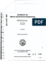 Handbook for Marine Geotechnical Engineering