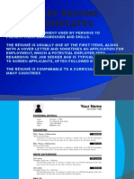 best resume templates for freshers