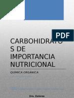 Carbohidratos de Importancia Nutricional