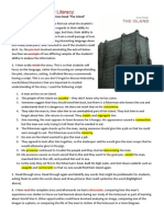 scaffolded literacy document