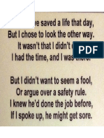 Safety Poem 1-3