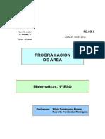 Matemáticas 1º ESO. Programación 2015-2016 (Fichero Único)