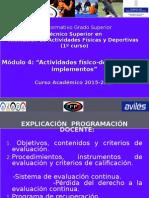 Implementos 1º TAFAD 15-16