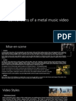 Codes and conventions of a metal music video