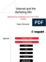 Internet and mkt mix