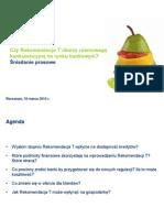 Prezentacja Deloitte Rekomendacja T 18.03.2010(2)