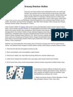 Teknik serta Trik Menang Domino Online
