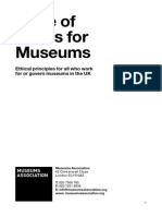Museum Association GB - Code of Ethics for Museums