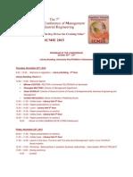 ICMIE 2015 Program
