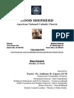 Good Shepherd ANCC Bulletin 9/20/2015