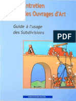 Entretien Des Ouvrages d'Art - Guide à l'Usage Des Subdivisions