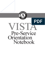 VISTA Notebook (9 of 14) PSO | Pre Service Orientation Notebook