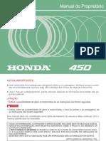 Manual Do Proprietário - Honda Cb 450