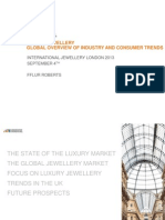 Fflur Roberts. Luxury Jewellery Overview of Industry and Consumer Trends