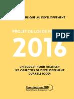 Coordination Sud - Aide publique au développement 2016