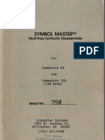 Symbol Master Multi-Pass Symbolic Disassembler Manual V2.0 (Feb 2 1986)