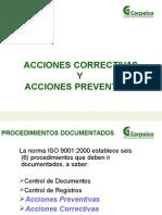 PresentacinProcedimientoparaacccionescorrectivasypreventivasSI P 04Sep9