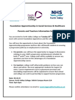 Apprenticeships in Social Services & Health Care Information Session