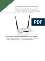 Configuração de ponto de repatição de rede WiFi.