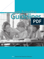 Classroom Acoustics Guidelines
