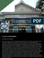INICIAÇÃO DO DIA 17 DE OUTUBRO DE 2015 DA E .`. V .`.