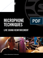 Microphone Techniques for Live Sound Reinforcement English