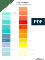 Complete Websafe Colors Code
