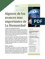 Avances de La Humanidad Hasta El Siglo XXI - Primera Entrega