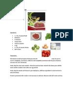 Recipe for tartara meat