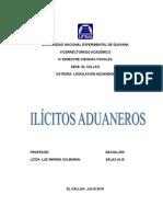 INFORME DE IL+ìCITOS ADUANEROS