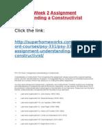 PSY 331 Week 2 Assignment Understanding a Constructivist .docx
