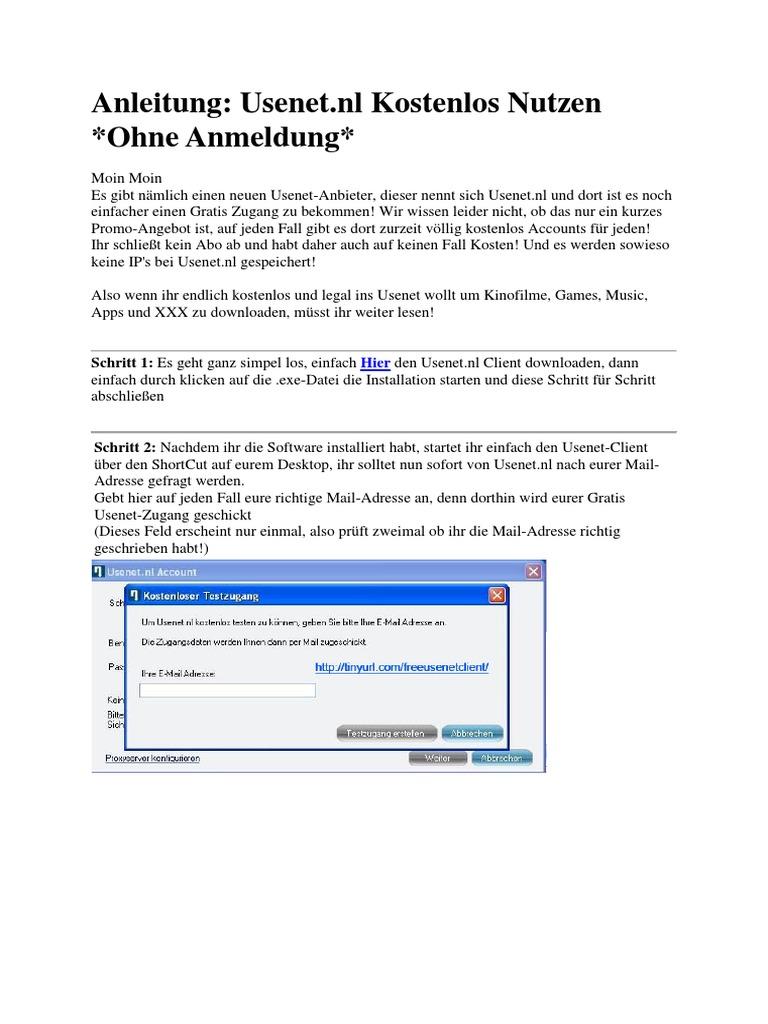 Usenet Zugang Kostenlos