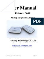 Unicorn 3001 User Manual