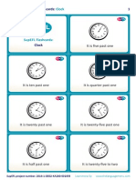 SupEFL Flashcards Clock English