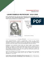 Timbre Laure Diebold-Mutschler - Communiqué de presse