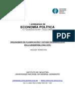 Organismos de planificacion y Estado desarrollista en la argentina (1943- 1975)