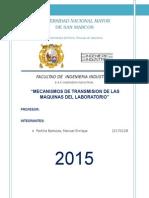 Mecanismos de Transmisión de las maquinas en el laboratorio