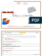 MS4 Level Writing Application Letter (Situation of Integration)