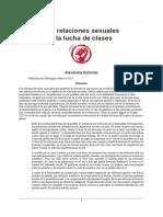 Kollontai - Las Relaciones Sexuales y La Lucha de Clases