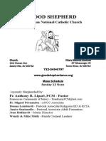 Good Shepherd ANCC Bulletin