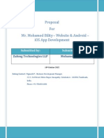 Proposal - Website Development - Mohamed Bility