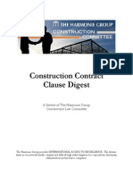 Construction Contract Clause Digest